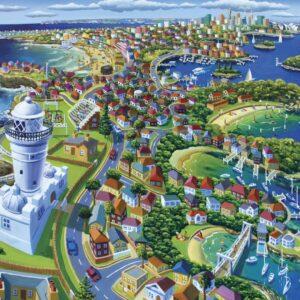 Macquarie Lighthouse 1000 Piece Puzzle - Blue Opal