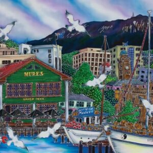 Mures at the Docks 1000 Piece Puzzle - Blue Opal