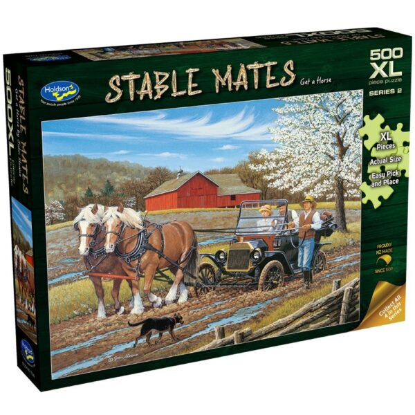 Stable Mates - Get a Horse 500 XL Piece Jigsaw Puzzle - Holdson