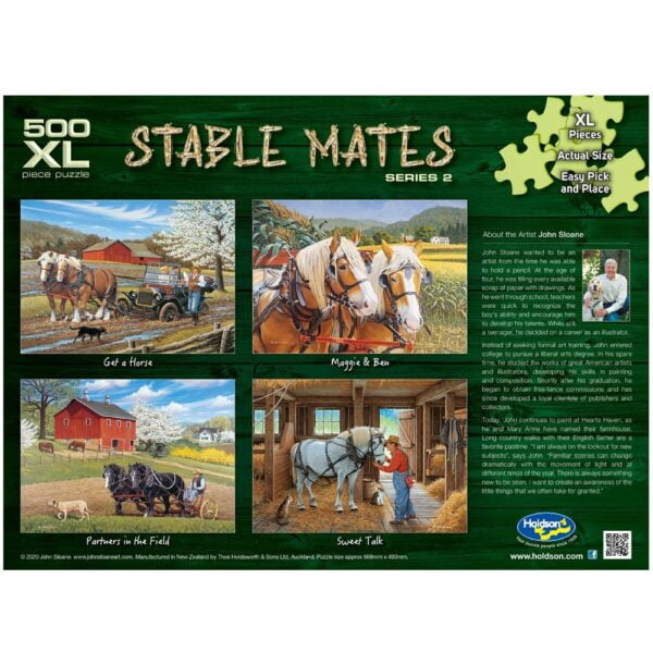 Stable Mates - Maggie & Ben 500 XL Piece Jigsaw Puzzle - Holdson