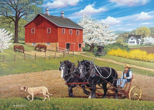 Stable Mates - Partners in the Field 500 XL Piece Jigsaw Puzzle - Holdson