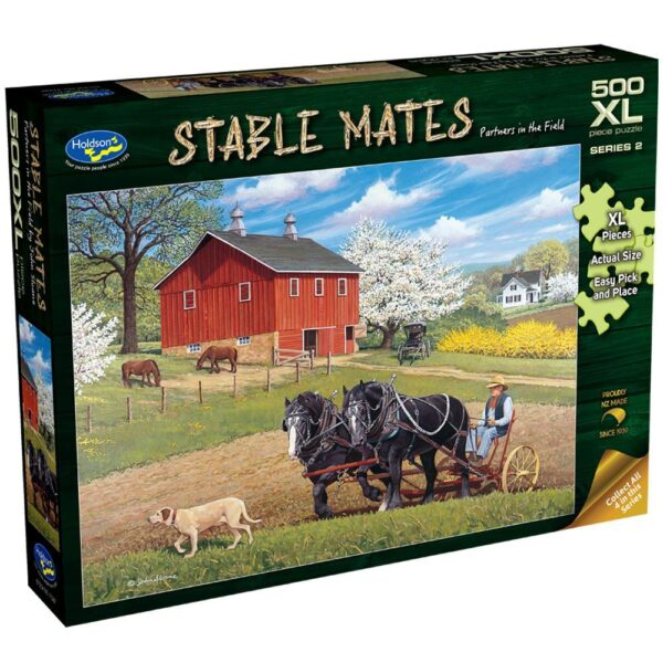 Stable Mates - Partners in the Field 500XL Piece Jigsaw Puzzle - Holdson