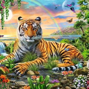 Tigers at Sunset 300 XL Piece Jigsaw Puzzle - Ravensburger