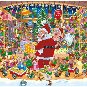 Wasgij Christmas 15 - Samta's Unexpected Delivery 1000 Piece Jigsaw Puzzle - Holdson