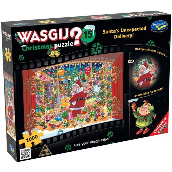 Wasgij Christmas 15 - Santa's Unexpected Delivery 1000 Piece Puzzle - Holdson