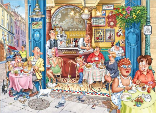 Wasgij Mystery 18 - Grabbing a Quick Bite 1000 Piece Jigsaw Puzzle - Holdson