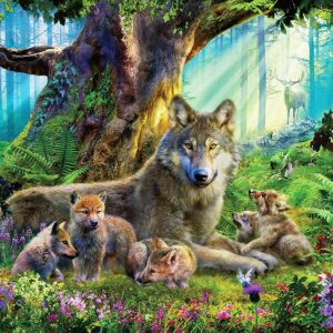Wolves in the Forest 1000 Piece Jigsaw Puzzle - Ravensburger
