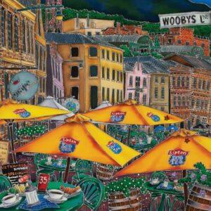 Esther Shohet - Wooby's Lane 1000 Piece Puzzle - Blue Opal