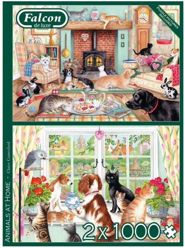 Animals at Home 2 x 1000 Piece Puzzle Falcon