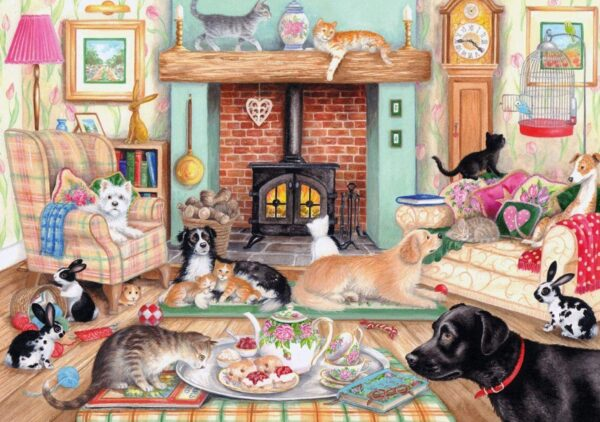 Animals at Home 2 x 1000 Piece Puzzles Falcon