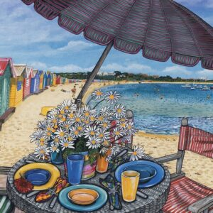 Brighton Beach 1000 Piece Jigsaw Puzzle - Blue opal
