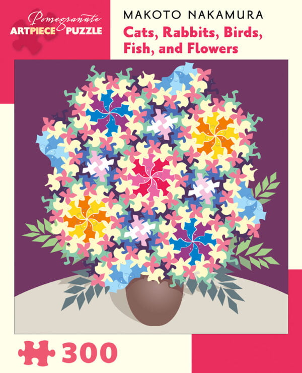 Cats, Rabbits, Birds, Fish & Flowers 300 Piece Puzzle - Pomegranate