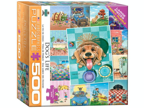 Dog's Life 500 Large Piece Puzzle - Eurographics