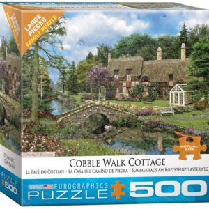 Dominic Davison - Cobble Walk Cottage 500 Large Piece Puzzle - Eurographics