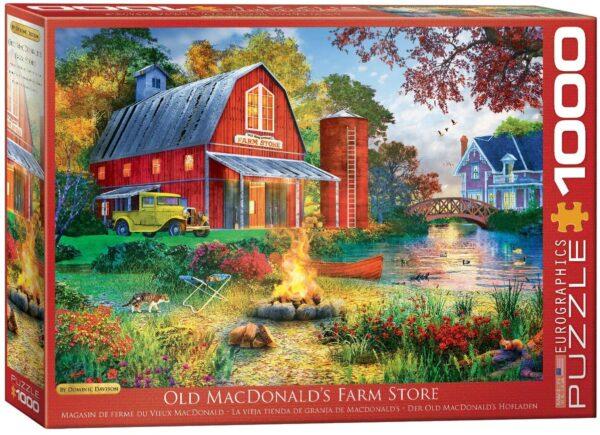 Dominic Davison - Old Macdonald's Farm Store 1000 Piece Puzzle - Eurographics
