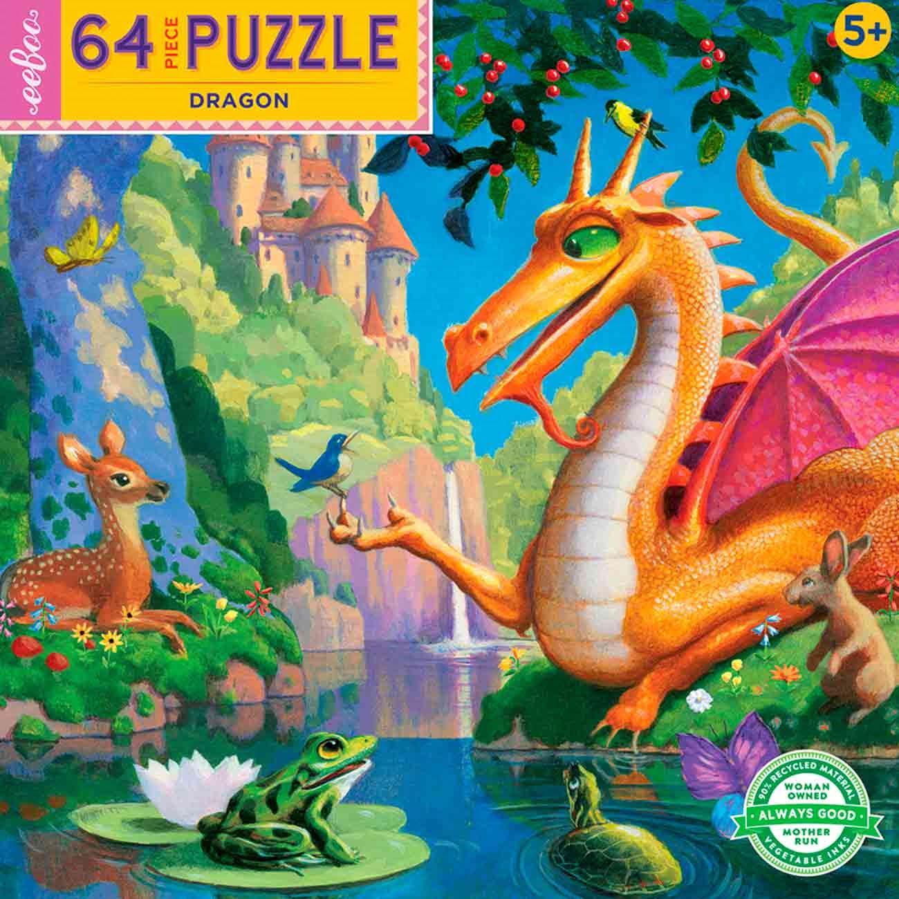 Dragon 64 Piece eeBoo Puzzle
