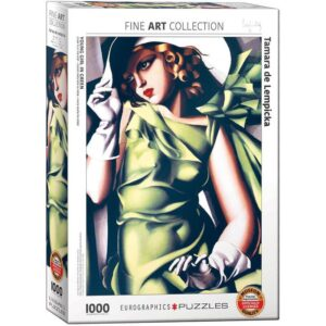 Young Girl in Green 1000 Piece Puzzle - Eurographics