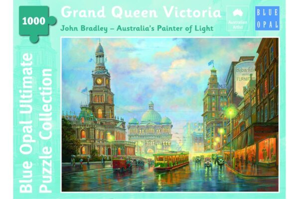 Grand Queen Victoria 1000 Piece Puzzle - Blue opal