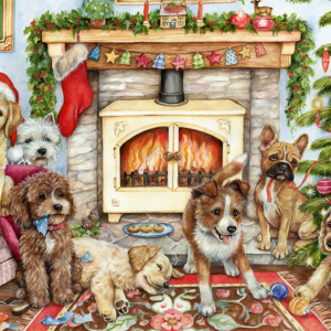 Christmas Puppies 500 Piece Puzzle Falcon