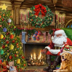 Santa by the Christmas Tree 500 Piece Puzzle - Falcon