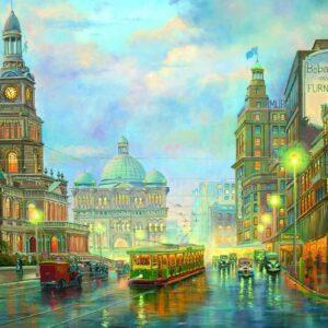 John Bradley - Grand Queen Victoria 1000 Piece Puzzle - Blue Opal