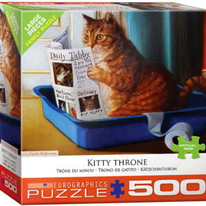 Kitty Throne 500 Large Piece Puzzle - Eurographics