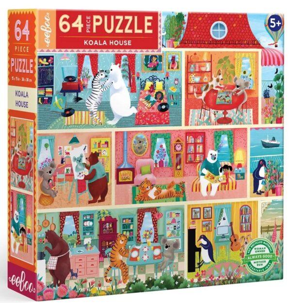 Koala House 64 Piece Puzzle - eeBoo