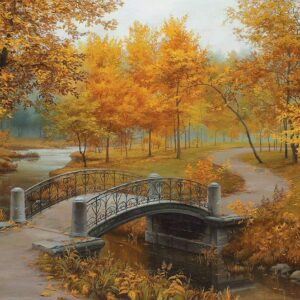 Lushpin - Autumn in an Old Park 1000 Piece Puzzle - Eurographics
