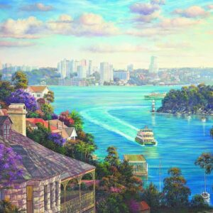 Sydney Harbour 1000 Piece Puzzle - Blue Opal