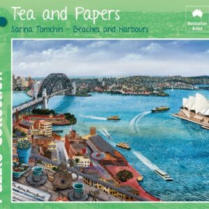 Tea and Papers 1000 piece Puzzle - Blue Opal