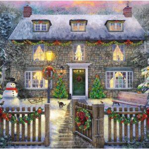 The Christmas Cottage 1000 Piece Puzzle Falcon