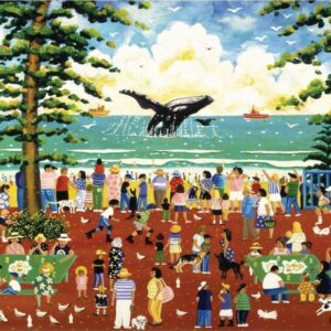 Watching the Whales 1000 Piece Puzzle - Blue opal