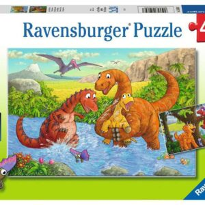 Dinosaurs at Play 2 x 24 Piece Jigsaw Puzzle - Ravensburger