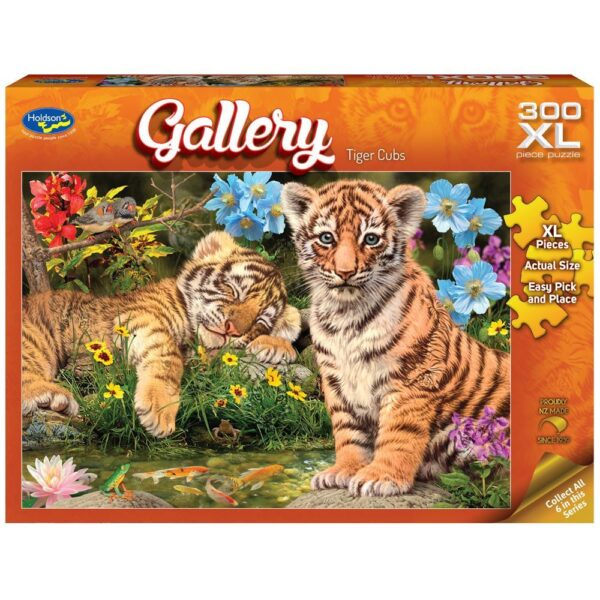 Gallery 7 - tiger Cubs 300 XL Piece Puzzle - Holdson