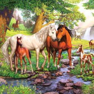 Horses by the Stream 300 Piece Jigsaw Puzzle - Ravensburger