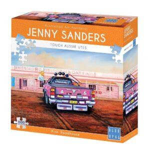 Jenny Sanders - Pink Roadhouse 1000 Piece Puzzle - Blue Opal