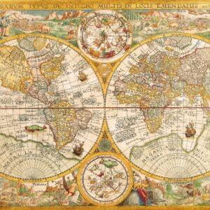 Ancient Map 2000 Piece Puzzle - Clementoni