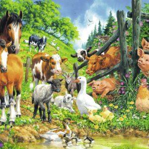 Animal Get Together 100 Piece Puzzle - Ravensburger