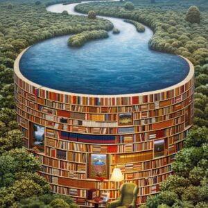 Bibliodame 1000 Piece Puzzle - Clementoni