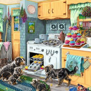 Doggone Good Cupcakes 1000 Piece Puzzle - Tilbury