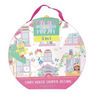 Fairy House Shaped 100 100 Piece Puzzle - Floss & Rock
