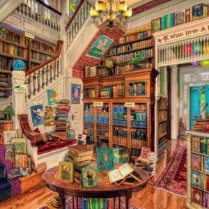 Fantasy Bookshop 1000 Piece Puzzle Ravensburger