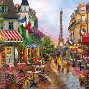Flowers in Paris 1000 Piece Puzzle - Clementoni