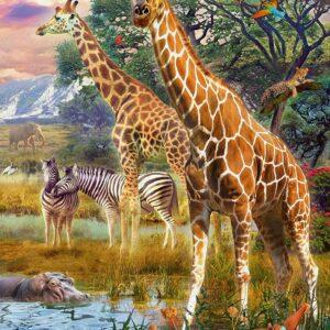 Giraffes in Africa 150 Piece Puzzle - Ravensburger