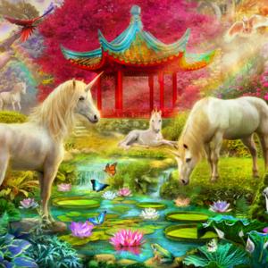Japan Unicorn 1000 Piece Puzzle - Tilbury