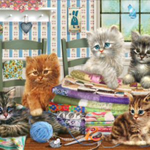 Kittens Knitting 1000 Piece Puzzle - Tilbury