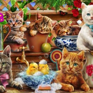 Kittens in the Potting Shed 1000 Piece Puzzle - Tilbury