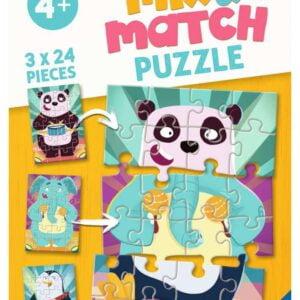 Mix & Match Animal Rock 3 x 24 Piece Puzzles Ravensburger