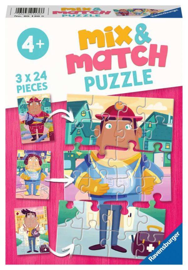 Mix & Match Job Swap 3 x 24 Piece Puzzle - Ravensburger