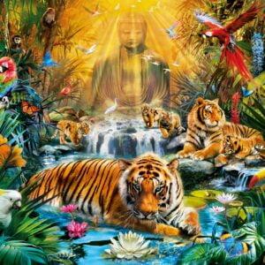 Mystic Tigers 1000 Piece Puzzle - Clementoni